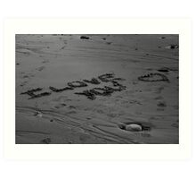 I Love You In The Sand Art Print