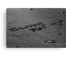 I Love You In The Sand Canvas Print