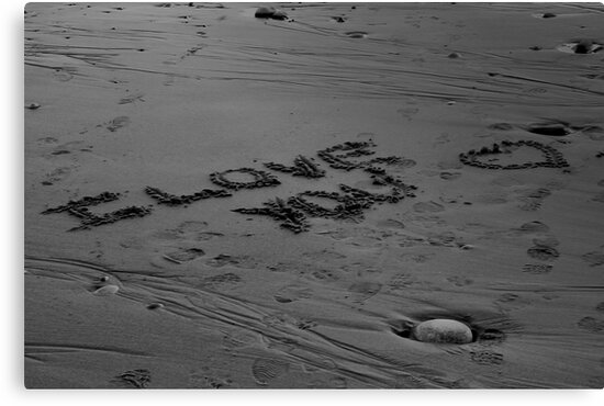 I Love You In The Sand by Scott Ruhs