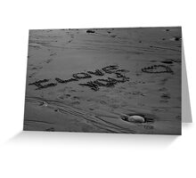 I Love You In The Sand Greeting Card