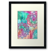 Round and Round the Rainbow Framed Print