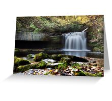 Cauldron Falls - West Burton Greeting Card