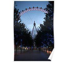 London Eye Night Scene Poster