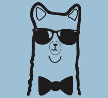 Hipster Alpaca – Face Close Up - Cute Kids Cartoon Character Kids Tee