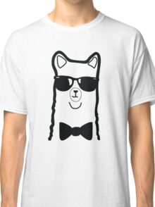 Hipster Alpaca – Face Close Up - Cute Kids Cartoon Character Classic T-Shirt