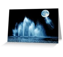 Blue Moon Water Greeting Card