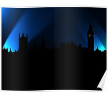 London in Blue Poster