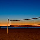 Vollyball Nets at Night by socalgirl