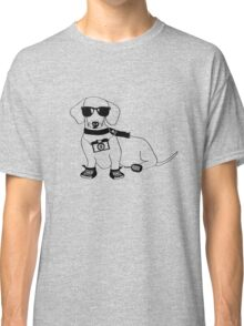 Hipster Dachshund - Cute Dog Cartoon Character - Sausage Dog - Weiner Dog Classic T-Shirt