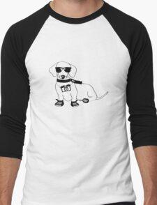 Hipster Dachshund - Cute Dog Cartoon Character - Sausage Dog - Weiner Dog Men's Baseball ¾ T-Shirt