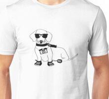 Hipster Dachshund - Cute Dog Cartoon Character - Sausage Dog - Weiner Dog Unisex T-Shirt