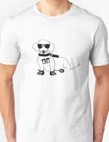 Hipster Dachshund - Cute Dog Cartoon Character - Sausage Dog - Weiner Dog T-Shirt
