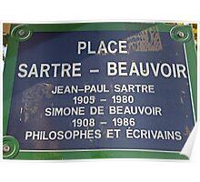 Sartre abd Beauvoir Residence Plaque Poster