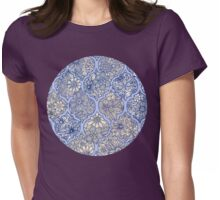 Moroccan Floral Lattice Arrangement - purple Womens Fitted T-Shirt