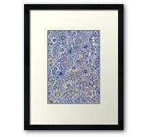 Moroccan Floral Lattice Arrangement - purple Framed Print