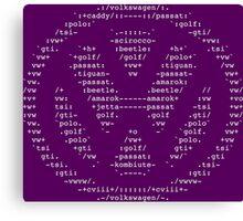 VW ASCII Canvas Print