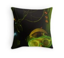 Halloween in the laboratory Throw Pillow