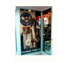 Northwest Tribal Art Shop...Open Art Print