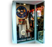 Northwest Tribal Art Shop...Open Canvas Print