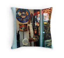 Northwest Tribal Art Shop...Open Throw Pillow