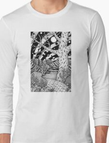 Black and White Design #02: Road to Nowhere Long Sleeve T-Shirt