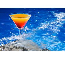 Poolside Cocktail Photographic Print