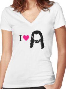 I love Thorin Women's Fitted V-Neck T-Shirt