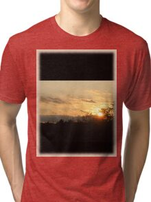 Sunset through the trees Tri-blend T-Shirt