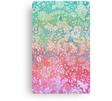 Soft Pastel Rainbow Doodle Canvas Print