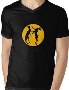 BOXING HARES Mens V-Neck T-Shirt