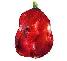 Big Red Apple by JenniferCortois