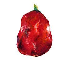 Big Red Apple Photographic Print