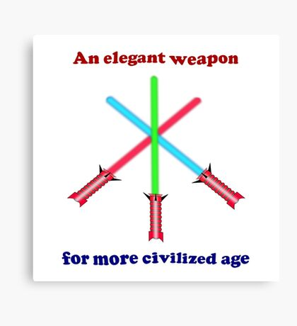 Lightsaber Elegant Canvas Print
