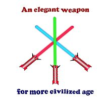 Lightsaber Elegant Photographic Print