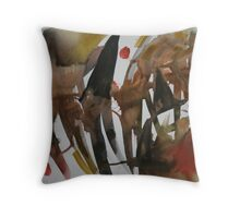 Halloween - Witchy Hats Throw Pillow