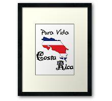 Costa Rica, Pura Vida Framed Print