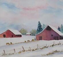 Winter Farm Scene  by Doris Currier
