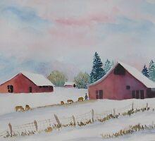 Winter Farm Scene  by Doris Currier