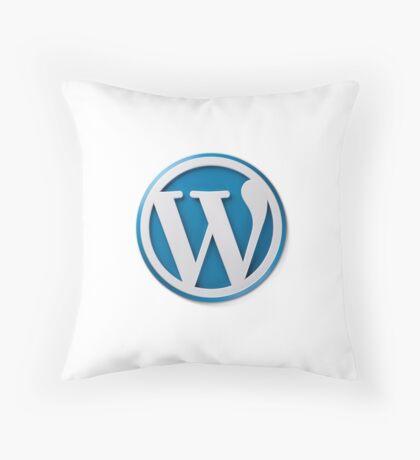 Wordpress Logo Throw Pillow