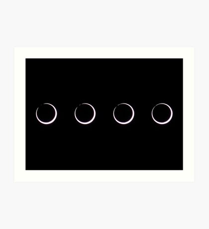 Annular Solar Eclipse (sequence) Art Print