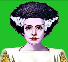 THE BRIDE OF FRANKENSTEIN!!!! BOO! by Mike Cressy