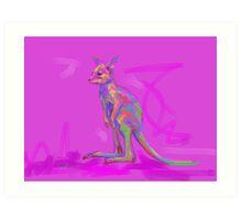 Baby Kangaroo Art Print