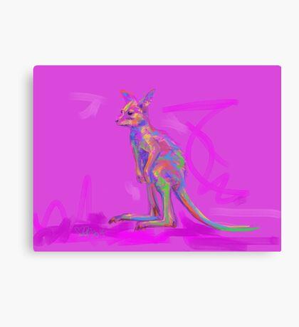Baby Kangaroo Canvas Print