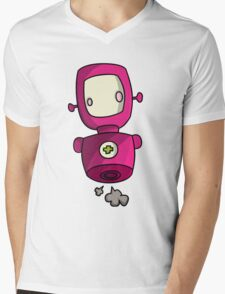 ROBOT PINK Mens V-Neck T-Shirt