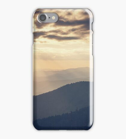 Sunset in the Great Smoky Mountains iPhone Case/Skin