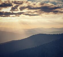 Sunset in the Great Smoky Mountains by Giorgio Fochesato