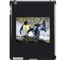 Two Penquins oil paintings iPad Case/Skin