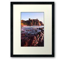 Dunnottar Bay. Framed Print