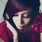 portrait with roses by Jessica  Lia
