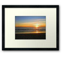 Ocean fire Framed Print